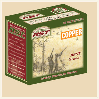 "12 Ga. • 2 1/2"" • Lite • Vel. 1175 • 1 oz. Load • Copper Shot - Box"